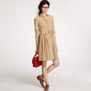 NWT J crew Blythe dress in Tan 4 NWOT 100% silk